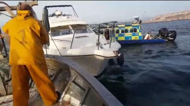 Captura de uno de los videos difundidos por Eduardo Ramos, uno de los pescadores afectados.