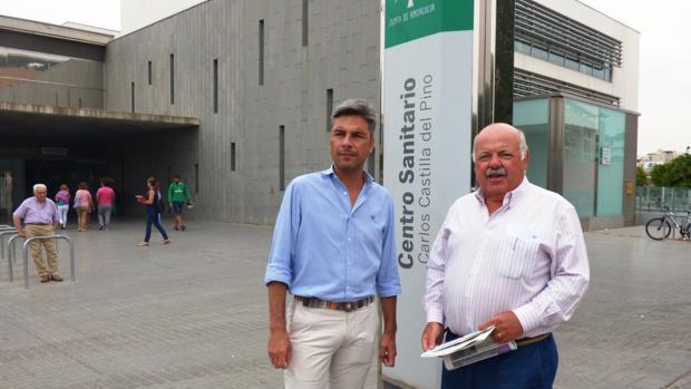 Andrés Lorite y Jesús Aguirre, este jueves en el Centro Carlos Castilla del Pino