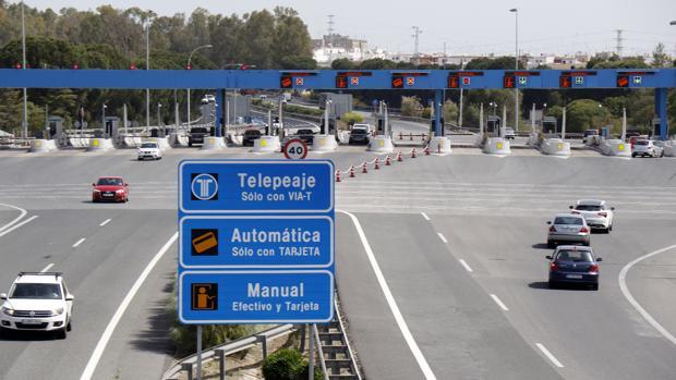 Imagen de la autopista de peaje entre Sevilla y Jerez
