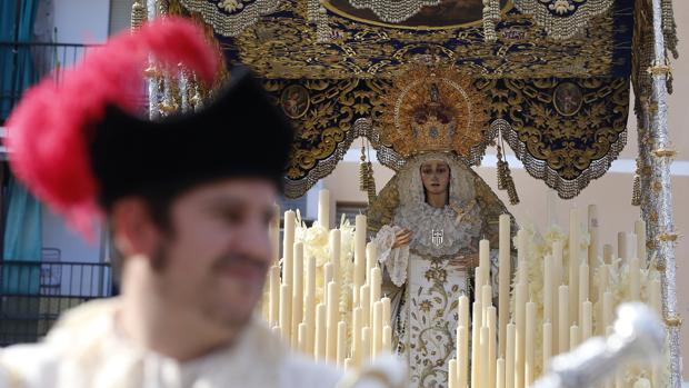 La Virgen de la Merced el pasado Lunes Santo
