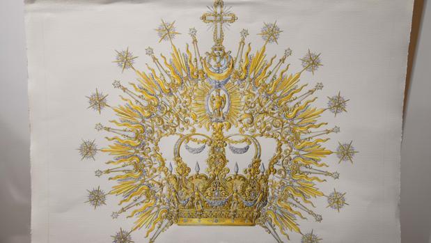 Diseño de la corona de coronación de la Virgen de la Paz y Esperanza