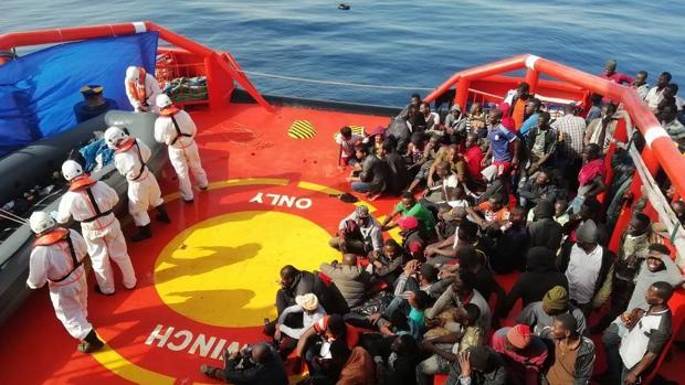Imagen de Salvamento Marítimo de un rescate este mes de julio en Almería.