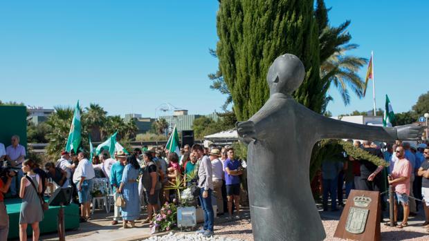 Homenaje celebrado esta mañana en Sevilla a Blas Infante junto al Cortijo Gota de Leche