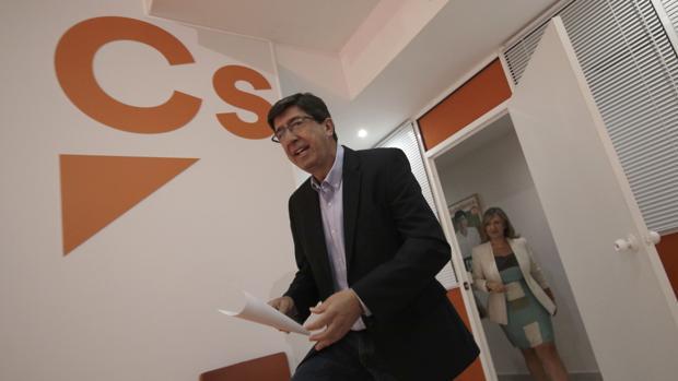 El líder de Ciudadanos en Andalucía, Juan Marín
