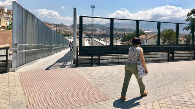 La pantalla antivandálica, junto a la pasarela que conecta Camino de Ronda con Los Pajaritos.