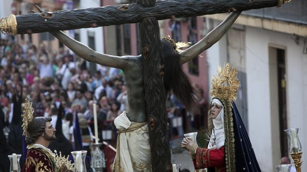 Vista trasera del paso del Cristo de Gracia