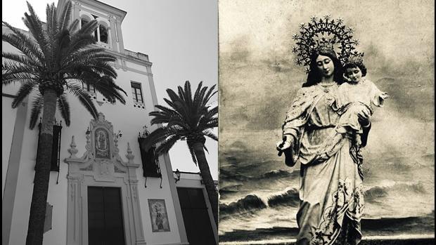 Santuario y una antigua fotografía de María Auxiliadora