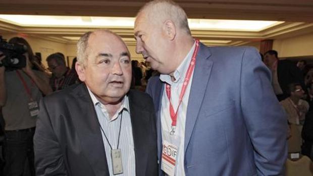 Manuel Pastrana (UGT) y Francisco Carbonero (CC.OO.)