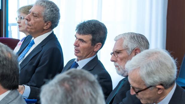 Cinco de los nueve peritos de la Intervención y expertos propuestos por las defensas en la sala del juicio