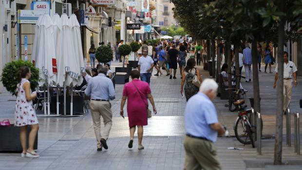 Imagen de la céntrica calle Cruz Conde de Córdoba