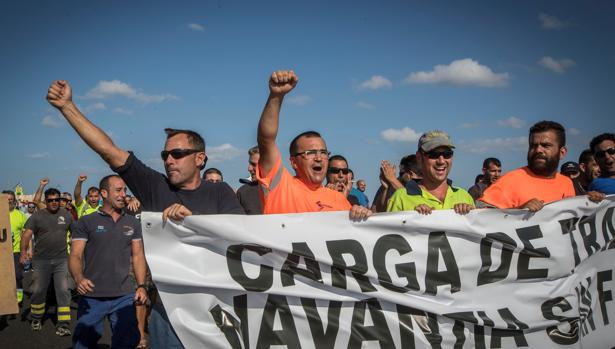 Los trabajadores de Navantia en una de las manifestaciones de los últimos días