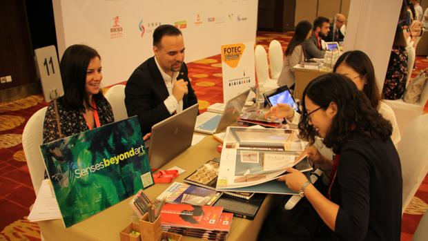Reunión del intercambio comercial en China