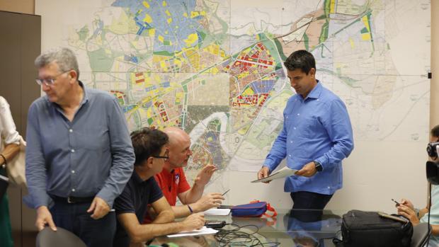 Pedro García, durante la presentación del proyecto en la Gerencia de Urbanismo