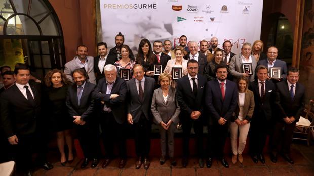 Galardonados durante la pasada edición de los Premios Gurmé