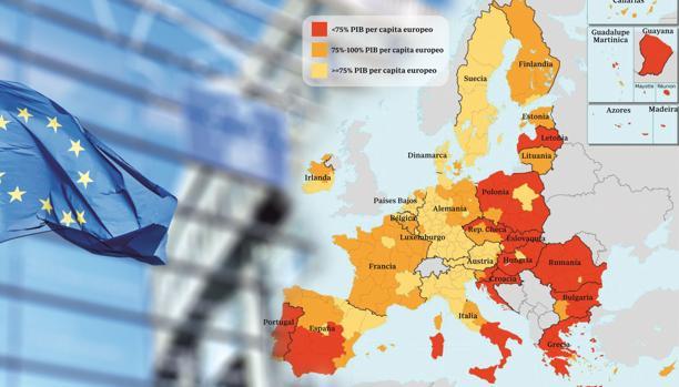Mapa de la convergencia en Europa