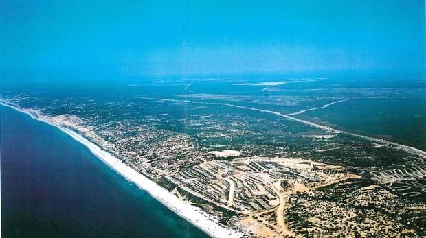 Terrenos donde se proyectó Costa Doñana, entre Mazagón y Matalascañas