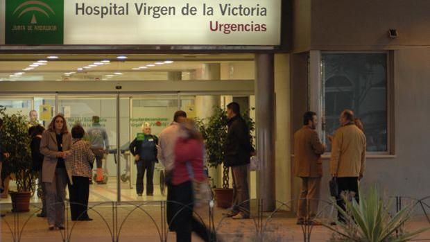 Puerta de las Urgencias del hospital Clínico de Málaga