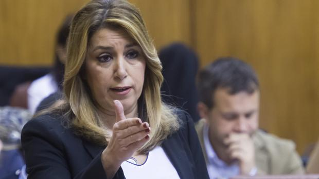 La presidenta de la Junta, Susana Díaz, en el Parlamento andaluz