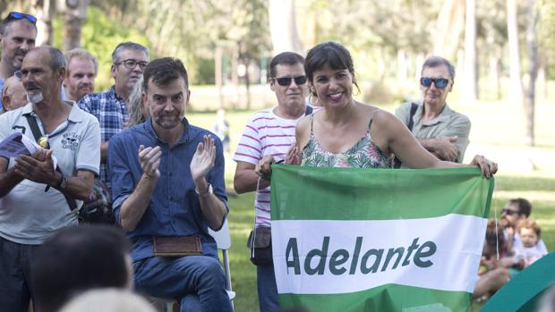 Antonio Maíllo y Teresa Rodríguez en un acto de su confluencia Adelante Andalucía
