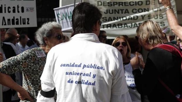 Huelga de profesionales de la sanidad en Málaga