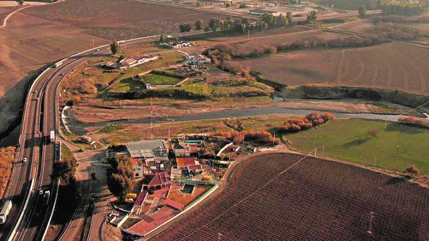 Vista aérea de los terrenos en los que se instalará el nuevo polígono logístico