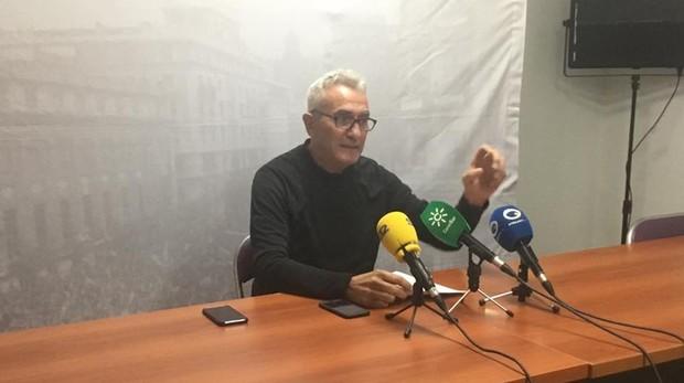 Diego Cañamero, durante una rueda de prensa en Jaén