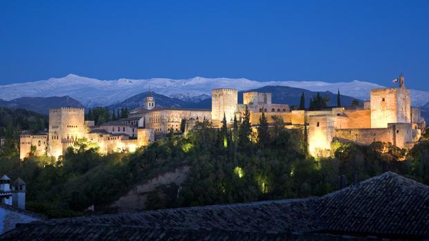 Vista general de la Alhambra de Granada desde el barrio del Albaicín