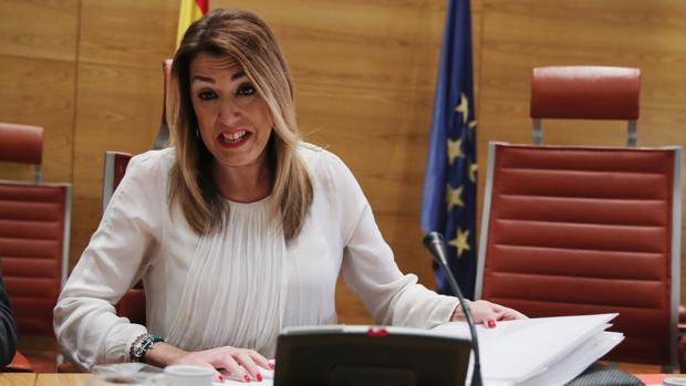 La presidenta de la Junta de Andalucía, Susana Díaz, este jueves en el Senado