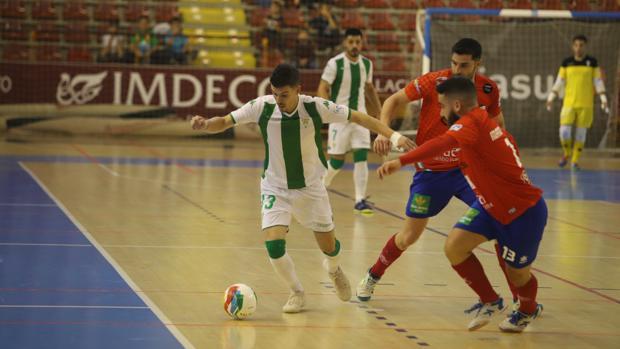 Keko, durante el último partido ante el Mengívar