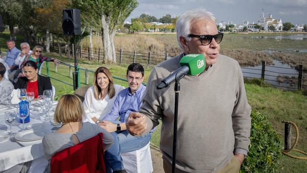Felipe González en el acto de ayer en Doñana