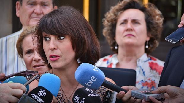 Juana Rivas, a la salida de los juzgados de Granada.