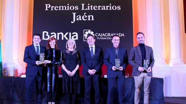 De izquierda a derecha, Alberto Jiménez Schumacher, Begoña Oro, María Elena Martín-Vivaldi, Joaquín Holgado, Mariano Fernández Urresti y David López Sandoval