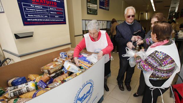 Voluntarias en una edición de la Gran Recogida de Alimentos en Córdoba