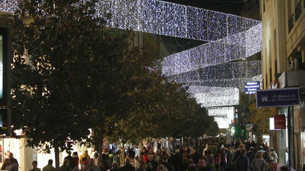 Alumbrado de Navidad de 2018 en la calle Cruz Conde de Córdoba