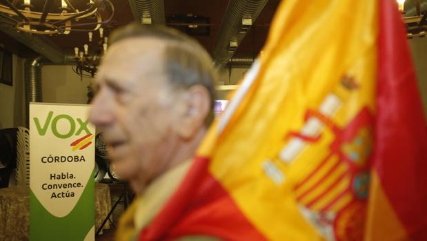 Imagen de la noche electoral de Vox en Córdoba