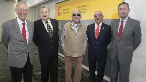 Los congresistas y senadores constituyentes Rodríguez Alcaide, Casaño, Fernández, Vallejo y Gracia