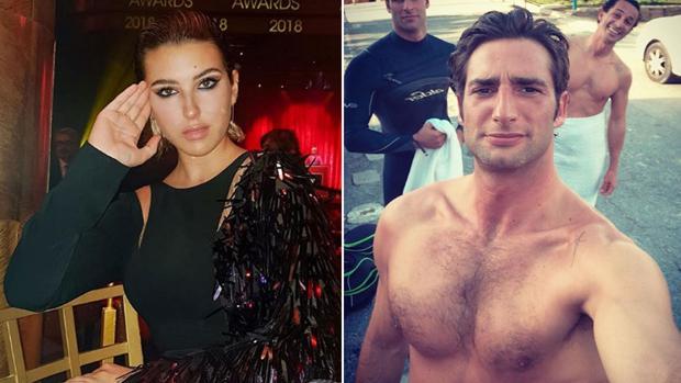Alba Díaz y el empresario Javier Calle, en fotos tomadas de sus perfiles en redes sociales