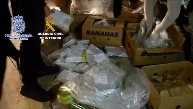 Imagen de la operación de los 6.000 kilos de cocaína en Málaga capital