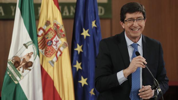 El líder de la formación naranja en Andalucía Juan Marín