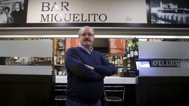 Francisco Cano, propietario del bar Miguelito