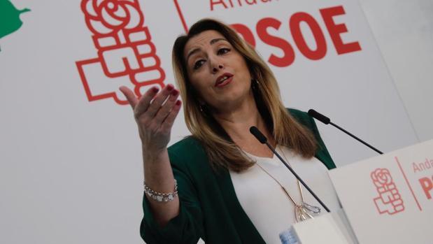 Susana Díaz, en la comparecencia de este viernes