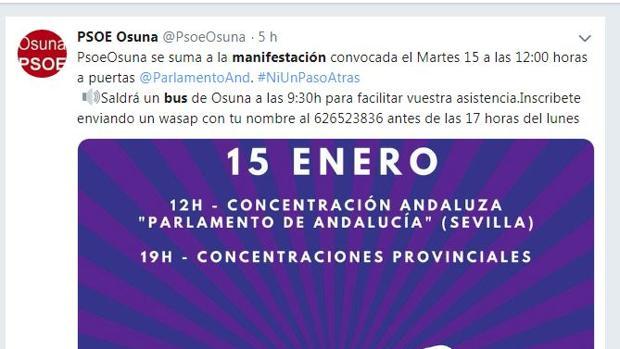 Desde los pueblos se organizan autobuses para ir a Sevilla
