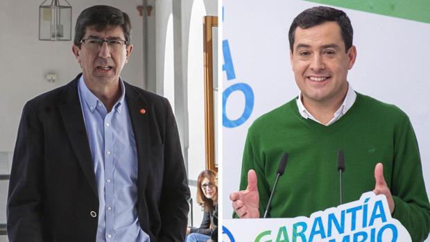 Juan Marín y Juanma Moreno