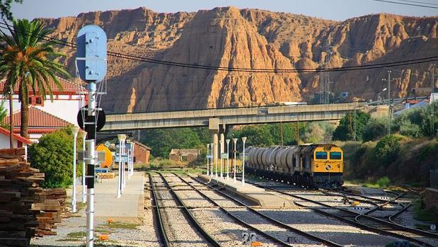 Estación de tren de Guadix, en el norte de Granada.
