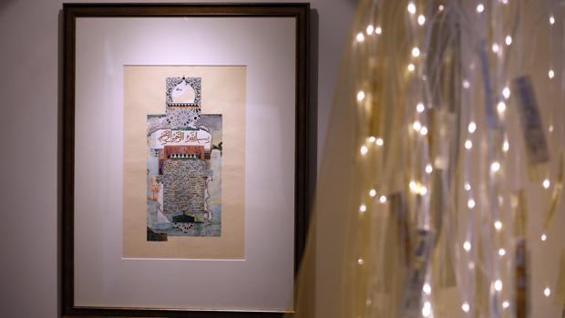 Una de las obras de Elisabeth Bolza en la Casa Árabe de Córdoba