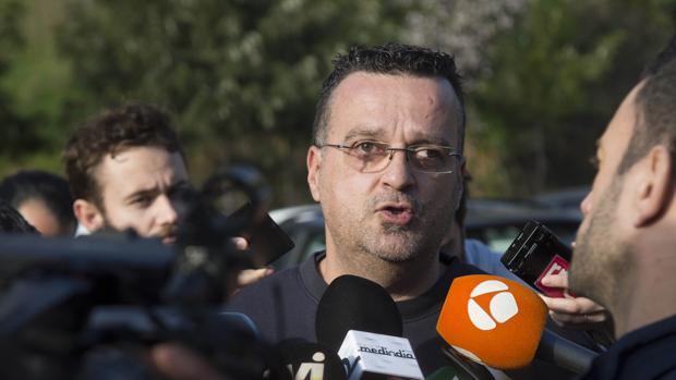 Miguel Ángel Nevado atendió a los medios tras bajar de la finca