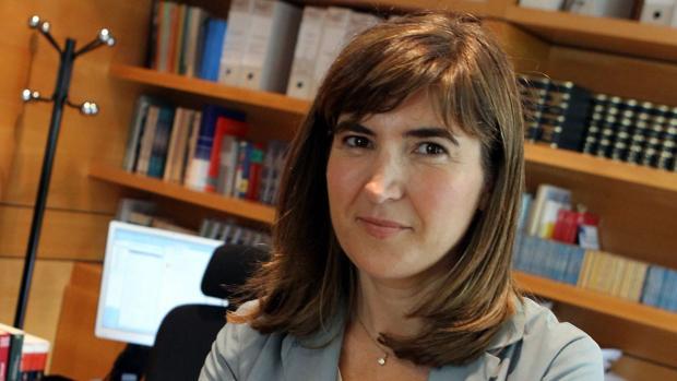 Rocío Blanco, en su despacho de la Tesorería de la Seguridad Social en Málaga