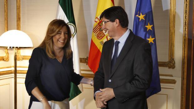 Susana Díaz y Juan Marín, en una imagen de archivo
