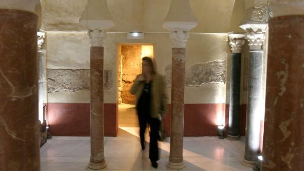 Imagen del interior de estos baños califales en Santos Mártires