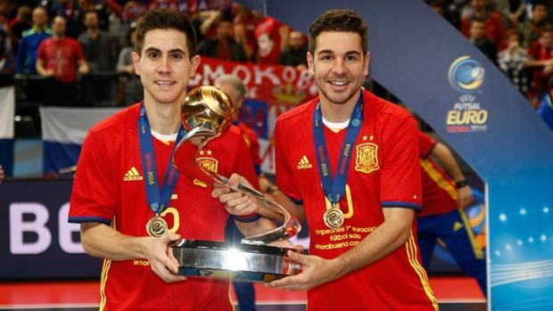 Bebé y Andresito, cuando fueron campeones de Europa